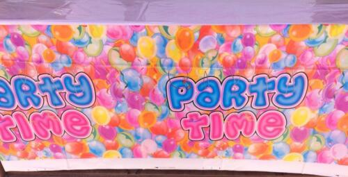 Party Supplies PartyTime Happy Birthday Decoration Boy//Girl-Perfect for 20 Guest