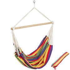 XXL Chaise hamac de jardin double grand lit suspendu camping balancelle transat