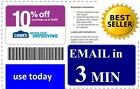 LATEST (X5)  LOWES 10% PRINTABLE-COUPONS In Store  *FAST - DECEMBER 15, 2016