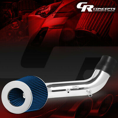 Full Set Cold Short Ram Air Intake Kit BLUE for 02-05 Civic Si ONLY 2.0L I4