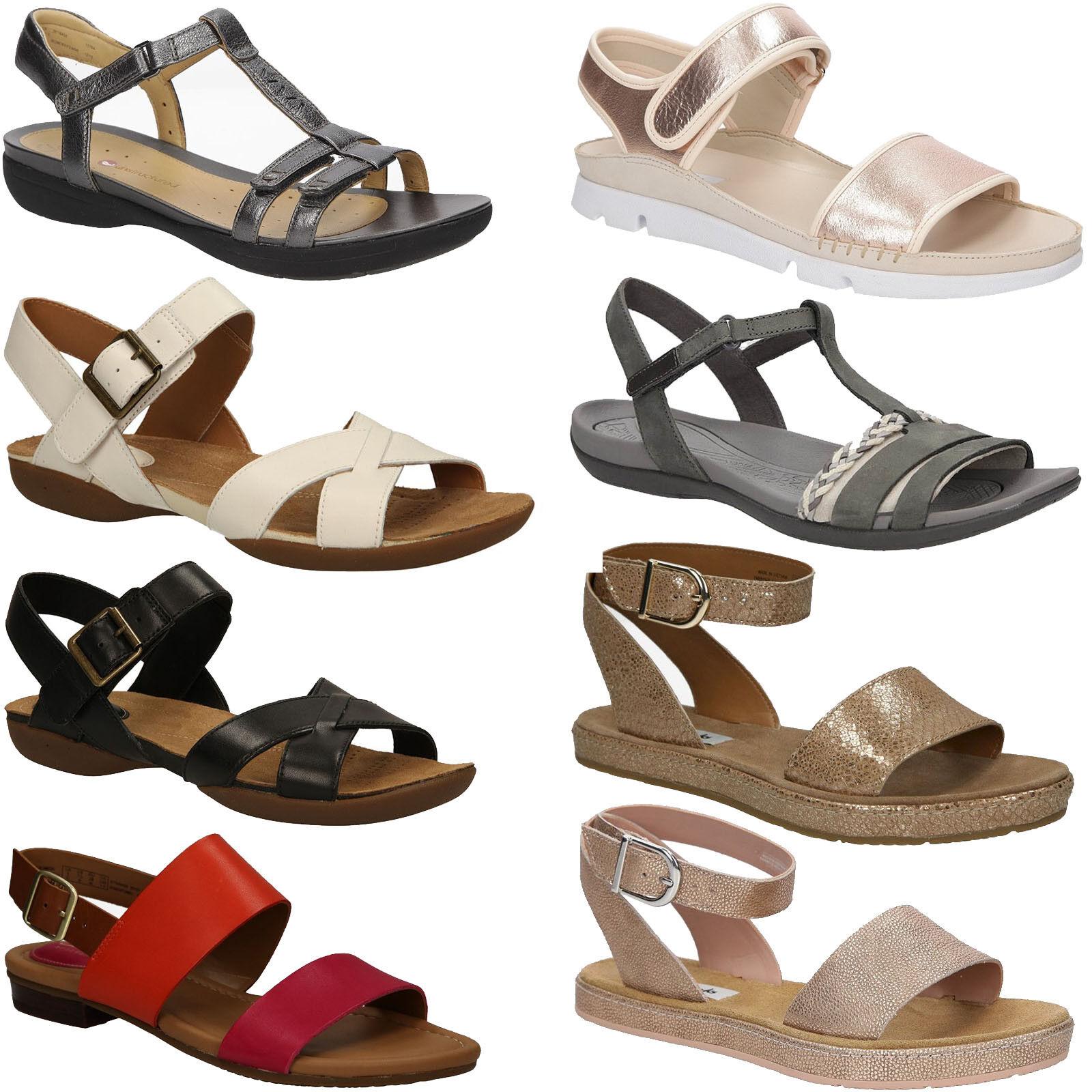 Damen Sandale Clarks 26123897 Sandaleetten Schuhe Flach Sommer Gr. 36-41 SALE