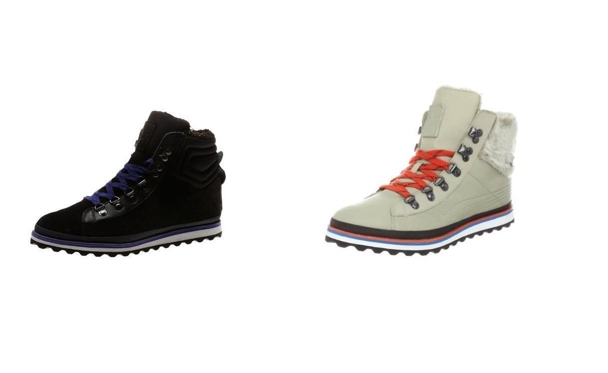 Puma Women's City Snow Boots Fur Black / Beige Size 5.5-10