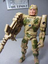 """LT. TANK ELLIS Captain POWER Future Soldier 4"""" vtg 1987 Action Figure Toy & Gun"""