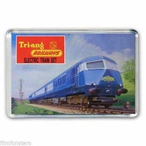 PréVenant Rétro Tri-ang (triang) Hornby Train Blue Pullman Set Jumbo Aimant De Réfrigérateur-afficher Le Titre D'origine