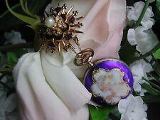 Ladies Art Deco Sterling Enamel Pocket / Pendant Watch  ~ SERVICED