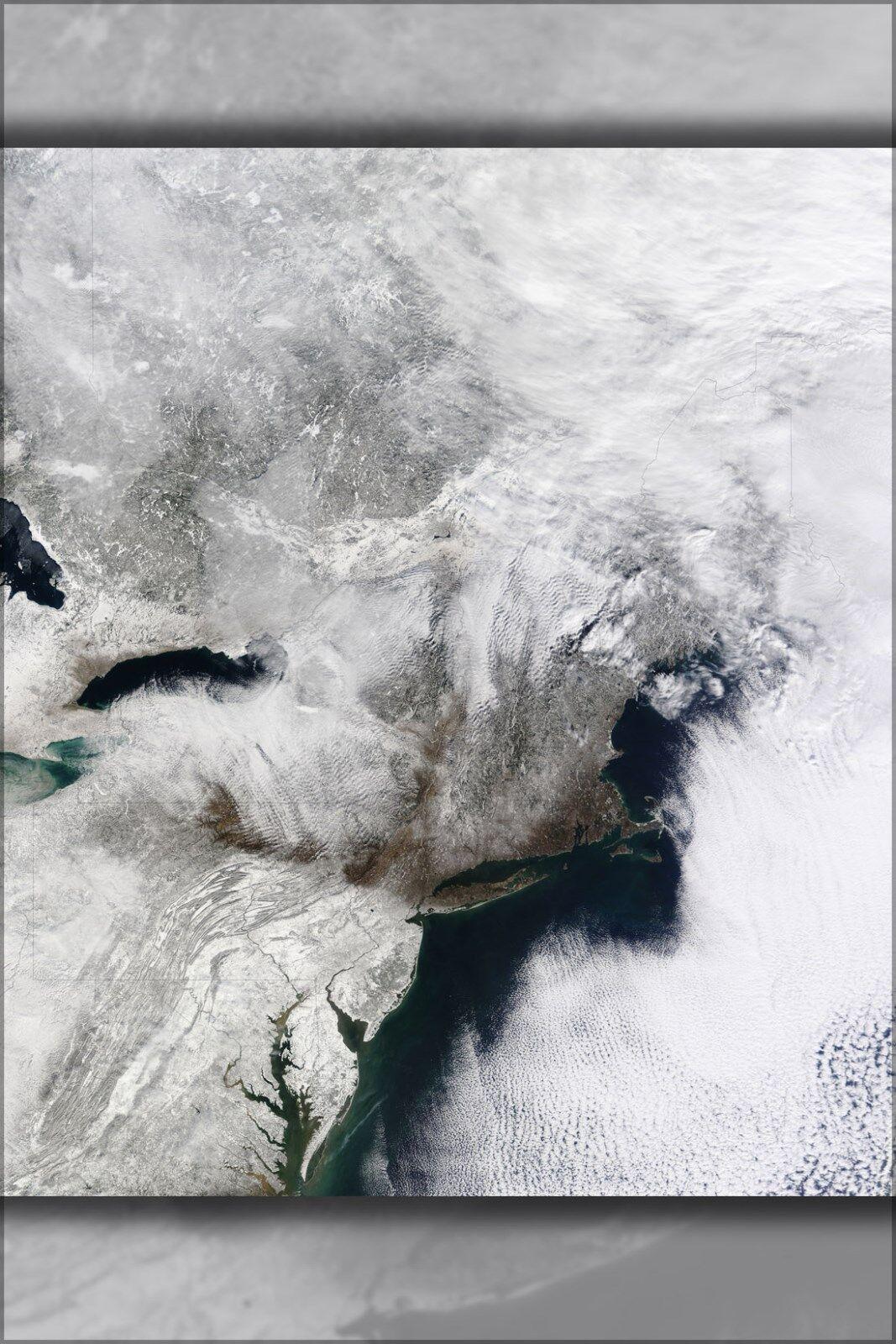 Plakat, Viele Größen; Neu-England Jersey Island Early Februar 2010 Blizzard