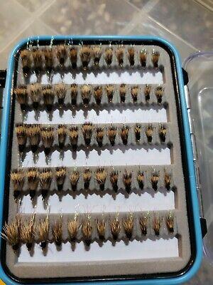 Trout Dry Flies 72 San Juan Worm w// CLR Fly Box US Veteran Owned