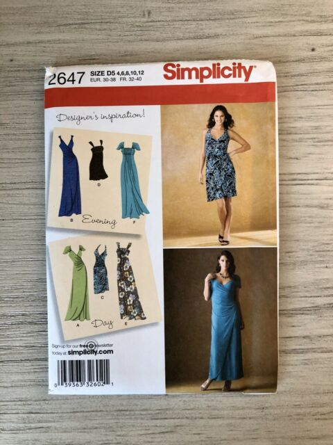 Butterick 3777 Misses Dresses Sewing Pattern ~ Size 8 10 12