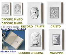 BOMBONIERA COMUNIONE-CRESIMA VANGELO Cm.6x9 ECO-PELLE MADONNA ARGENTO 925% 10568