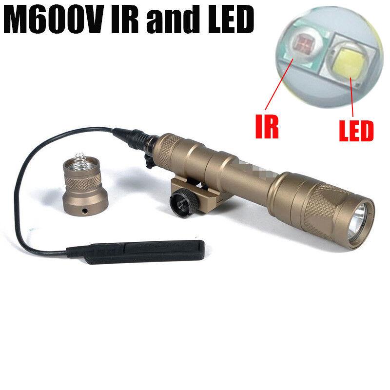 IR Series Tactical Gun Light M600V-IR Scout Light White LED+IR Infra-red Output