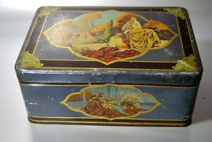 Big/Large Box Early 20th Century Sheet Metal Lithographiee Decor Orientalist