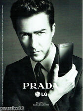 PUBLICITE ADVERTISING 1016  2012  Prada  mobile LG   & Edward Norton