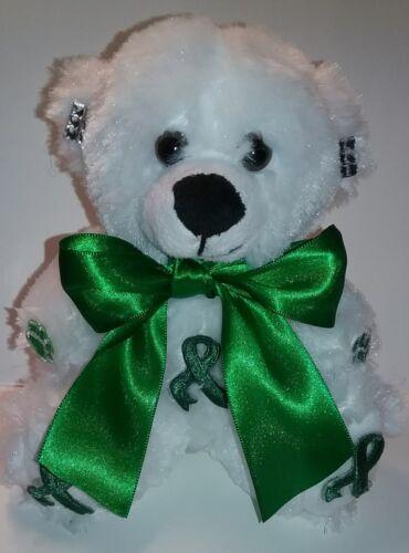 6 Inch Green Ribbon Awareness Teddy Bear
