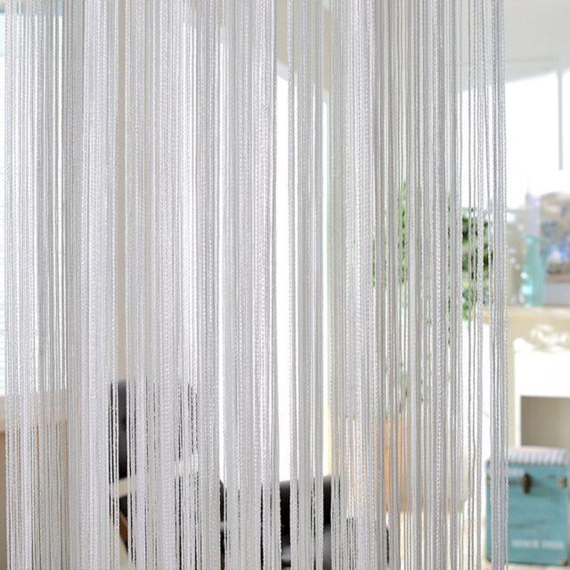 String Curtains Patio Net Fringe For Door Tassel Fly Screen Windows Divider Wniu 1pc Grey 100cm X 200cm