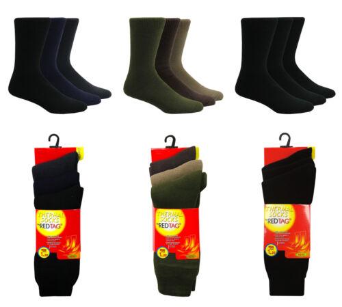 RED TAG Mens 3pk Extreme Thermal Slipper SocksTOG 1.20 Warm Winter