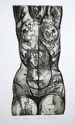 """Frank Martin  Torso 1967 Original Print Signed Etching   16"""" x 22.5"""""""