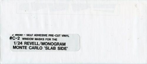 E-Z Masks 1:24 Vinyl Window Masks For Revell-Monogram Monte Carlo Slab Side #C2