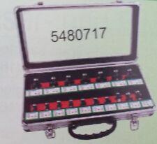 Edessö HM H717AL Fräser Satz 17 teilig Abrundfräser in Alu Koffer 5480717