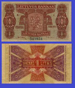 Reproduction Lithuania 1 litas 1922 UNC
