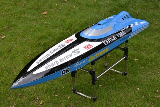 Rc gas boat stand for large scale atomik aquacraft
