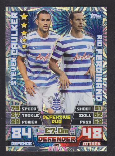 413 Caulker Ferdinand-Qpr Match Attax 2014//2015-Duo