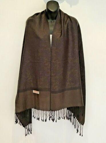 Women Pashmina Paisley Shawl//Wrap//Scarf Silk Cashmere-Soft Stole HOT