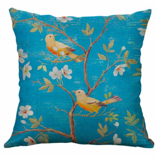 Home Bed Decor Cotton Linen Square Decorative Throw Pillow Case Cushion Cover