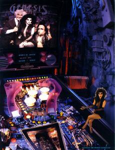 Gottlieb-GENESIS-Original-NOS-1988-Pinball-Machine-Flyer-Sci-Fi-Goth-Horror-Art