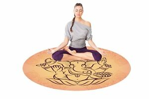 Gaiam Round Yoga Mat Orange Yoga Mat Round Mat 55x55 Inches Large Yoga Mat Ebay