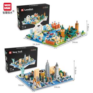 2550-2551 Bausteine New York London Straße Spielzeug DIY Kinder Modell