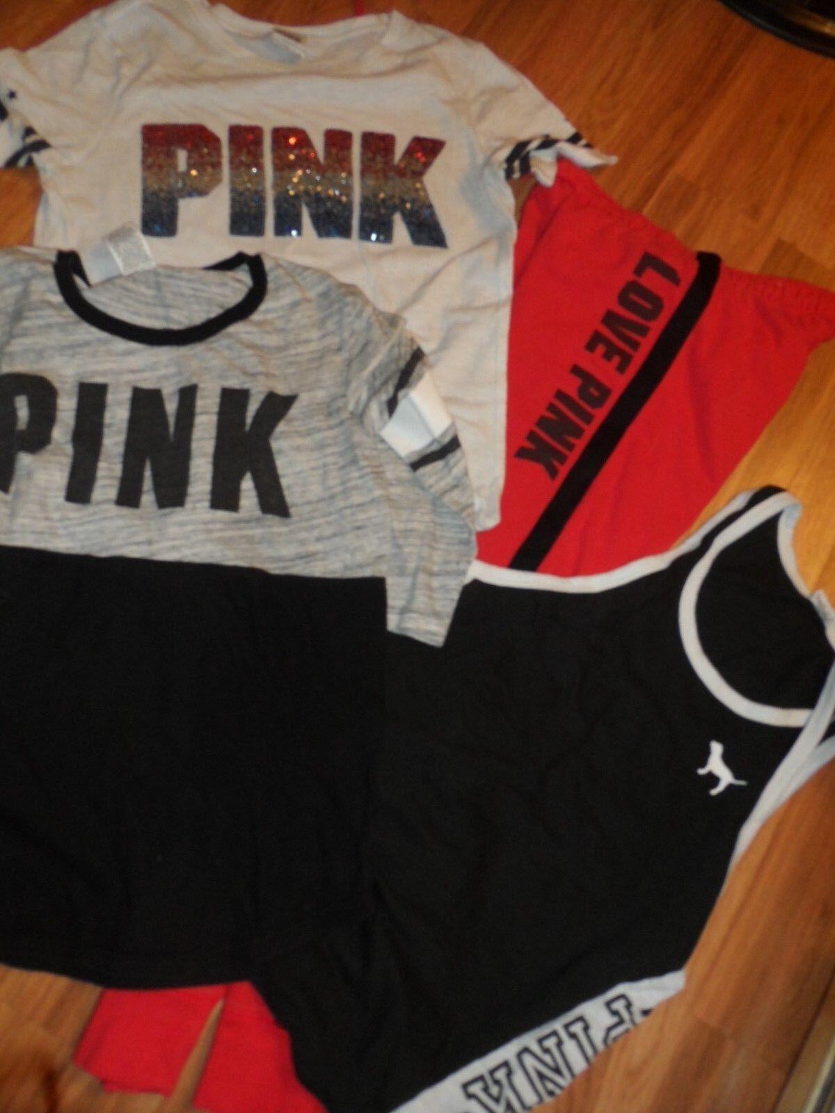 d2047d87a077d VS Victoria's secret PINK jogger sweatpant pant bling tank top shirt ...