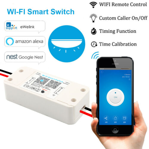10A Smart Home WiFi Wireless Switch Modul Monitor für IOS Android APP Control