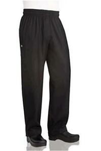 Chef-Works-Men-039-s-Essential-Baggy-Zip-Fly-Chef-Pants-Black-Black-Size-X-Large