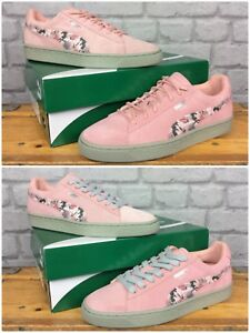 wholesale dealer b26a6 2ce61 Details about PUMA LADIES CLASSIC SUEDE PINK SUNFADE STITCH TRAINERS  VARIOUS SIZES REDYE