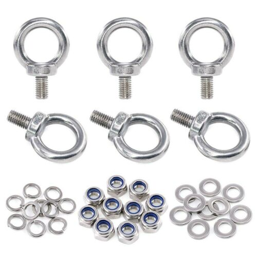 Including... 36Pcs 304 Stainless Steel M8 Male Thread Lifting Ring Eye Bolt Kit