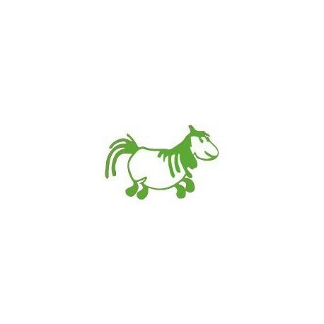 Pottok Cheval autocollant sticker adhesif Taille:8 cm couleur : jaune