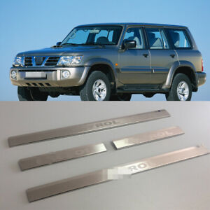 Details about Door Sill Scuff Plate Guards Sills For Nissan Patrol Y61  1997-2008 Threshold