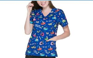 902c70d2b3b NWT Dr. Seuss V Necked Scrub Top What pet should I get? Size XL ...