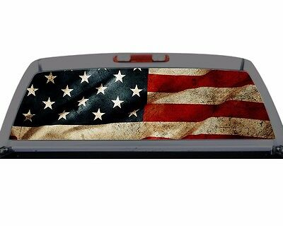 American Flag Grunge Americana Rear Window Graphic Decal Truck SUV Perf