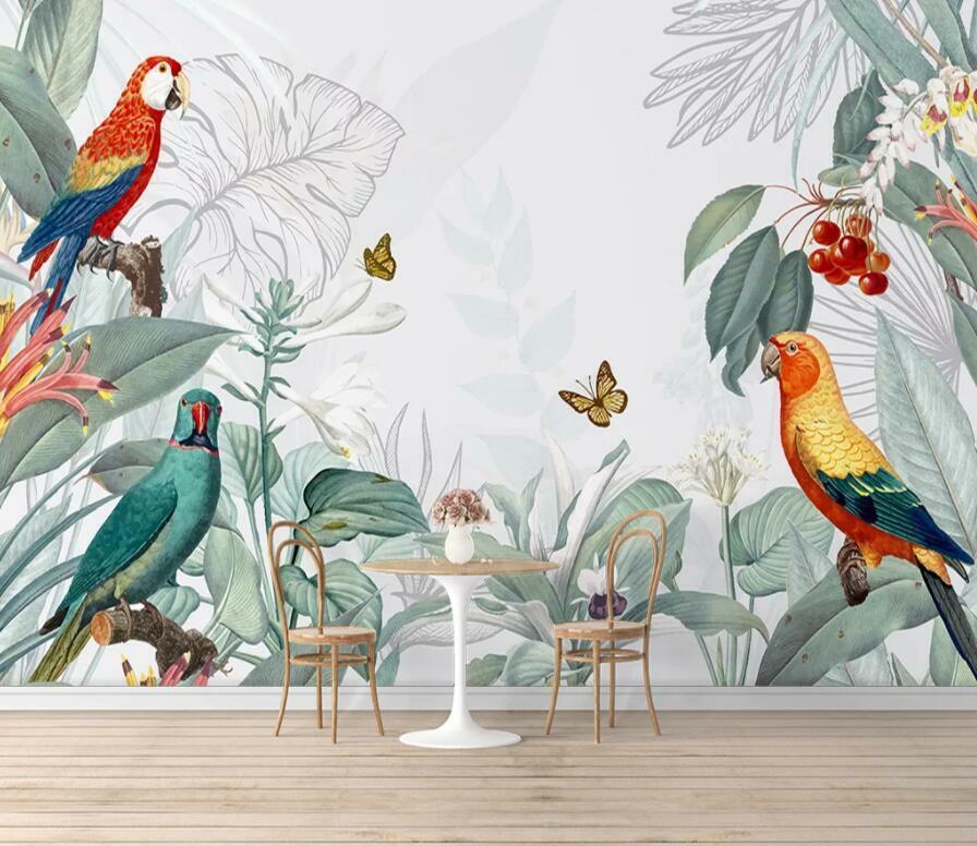 3D Bunter Papagei M2651 Tapete Wandbild Selbstklebend Abnehmbare Aufkleber Amy