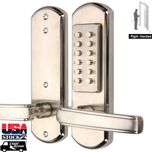 Mechanical Keyless Door Lock Entry Keypad Security Combination Exterior Interior  eBay