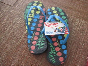 Flip-Flops-TWISTER-Size-Small-5-6-COLORFUL-DOTS-New-with-Tags
