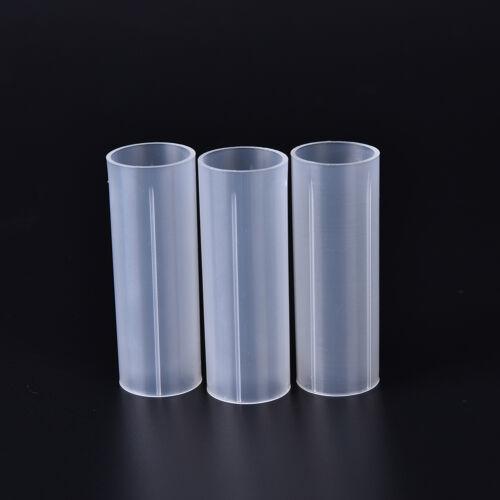 3Pcs 18650 Battery Tube Holder Plastic Case Adaptor For Flashlight Torch Lam  KQ