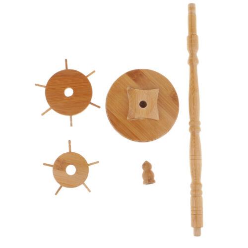 11Hook Bamboo Chinese Calligraphy Drawing Brush Pen Hanger Rack Holder Stand
