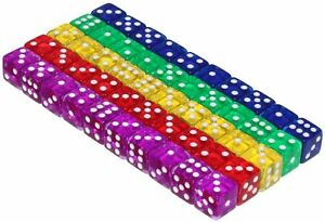 50-6-Sided-Dice-16mm-5-Colors