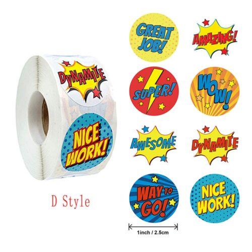 500pcs//Roll Cartoon Paper Stickers Label Scrapbook Diary Decor Kids DIY Toy