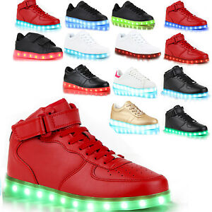 Neu Leuchtende LED USB Farbwechsel Schuhe Sneaker Blinkschuhe Unisex Shoes