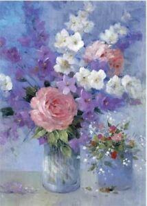HAPPY-BIRTHDAY-CARD-034-PINK-ROSE-IN-FLOWER-VASE-DESIGN-034-SIZE-4-75-034-x-6-75-034-FF0464