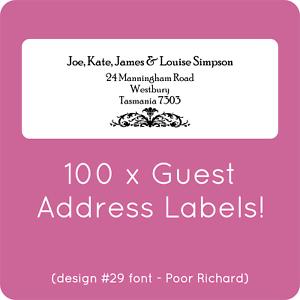 100 custom wedding guest list labels invitations address sticky