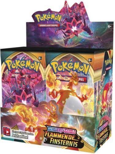 1 Pokemon Booster Pack espada /& escudo soflamas tinieblas alemán nuevo embalaje original /&